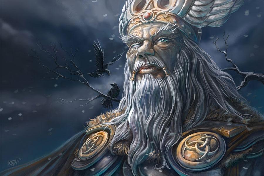 Odin, Tüm tanrıların en yücesi ve en yaşlısı  olanıdır.