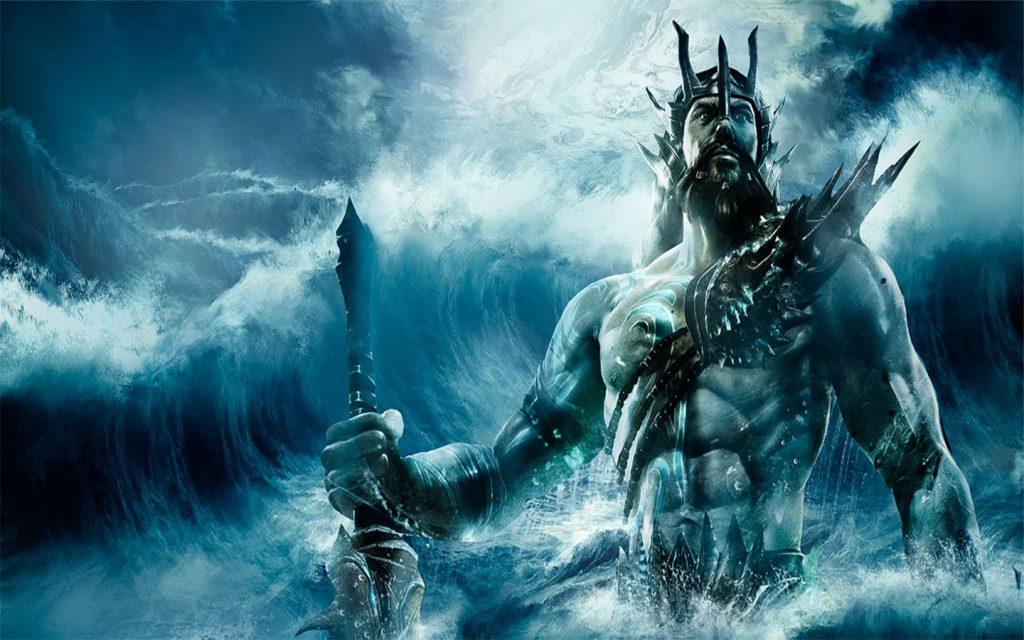 Denizlerin Tanrısı Poseidon