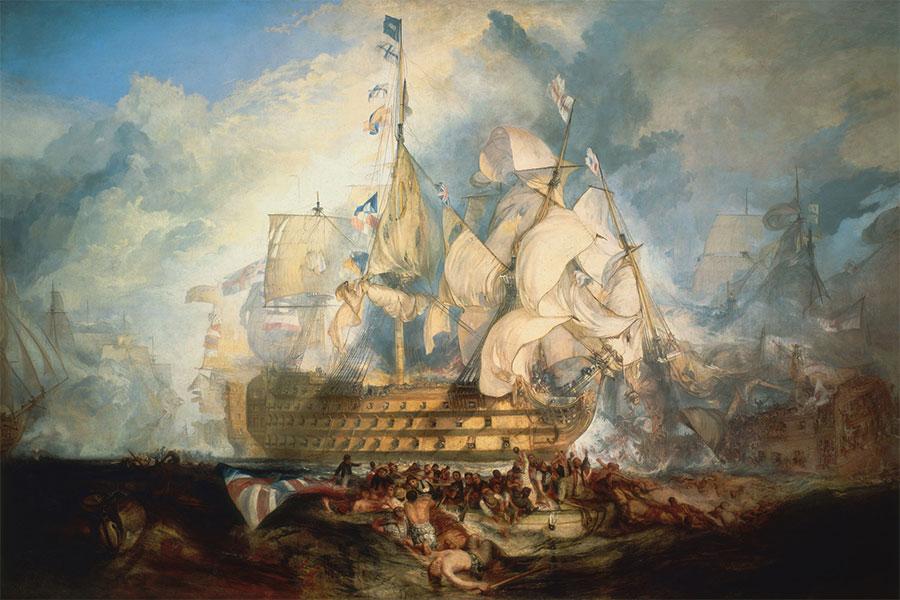Trafalgar Savaşı - Dünya tarihinin en büyük deniz savaşlarından bir tanesi olarak görülmektedir.