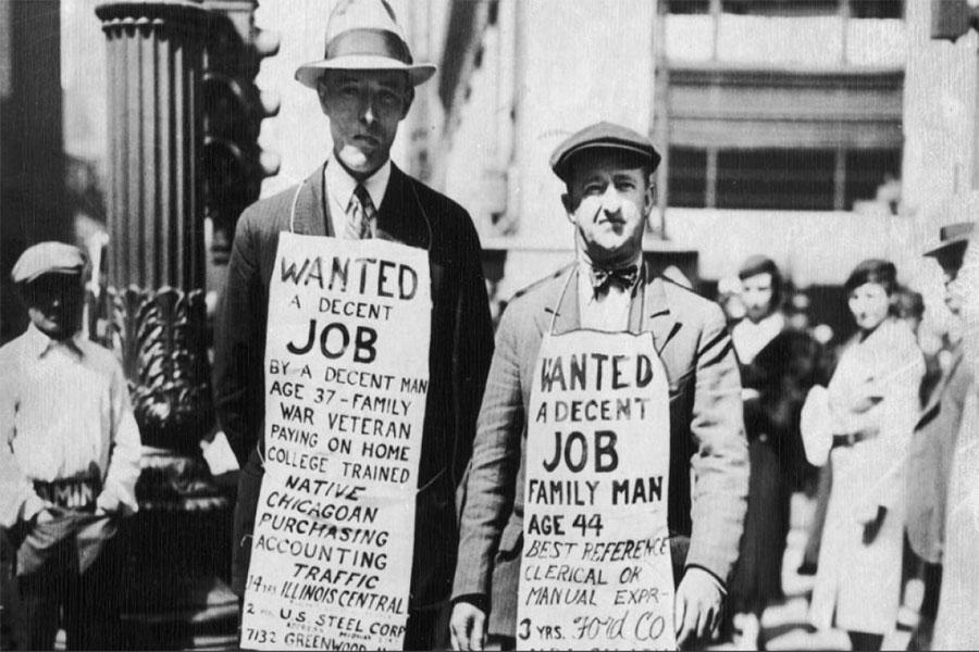1929 Ekonomik krizinde, Amerika Birleşik Devletleri'nde işsizlik oranı %23'e yükseldi