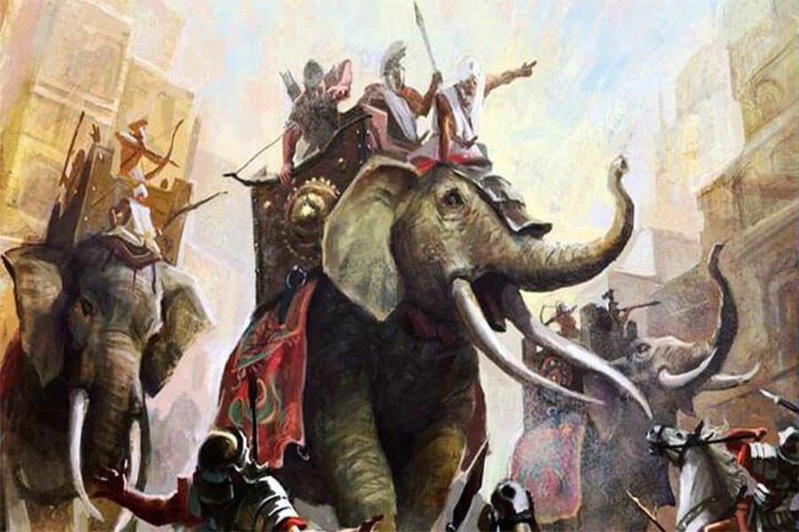 Ankara Savaşı'nda Timur'un ordusunun çoğu atlı okçulardı, ancak bir dizi Hint savaş filleri de vardı.