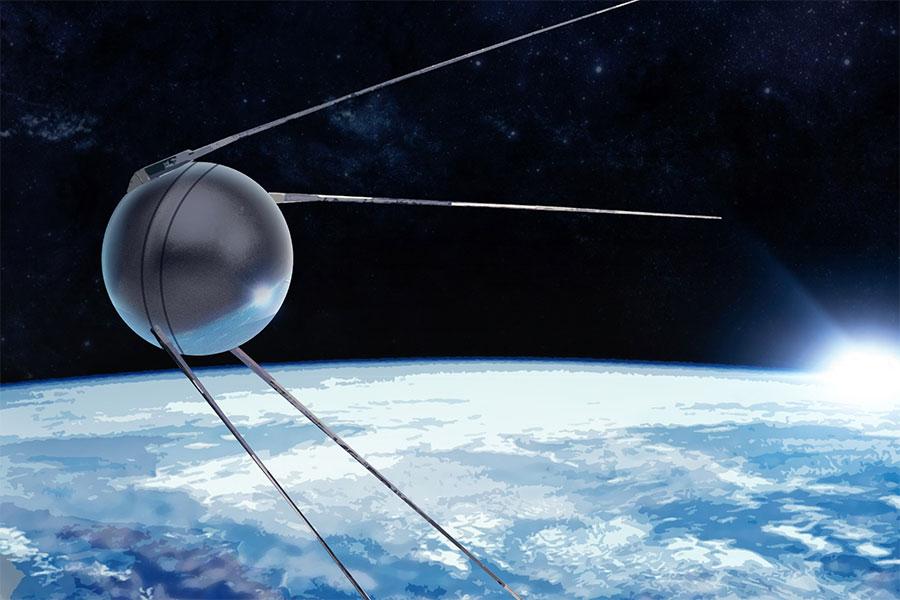 Dünyanın ilk yapay uydusu olan Sputnik, Sovyetler Birliği tarafından 1957 yılında uzay yörüngesine oturtuldu.